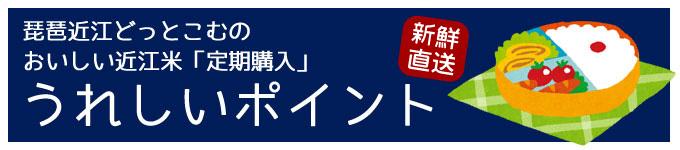 近江米定期購入のうれしいポイント